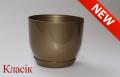 Горшок Классик с подставкой, d130mm, золото