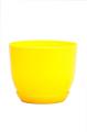 Горшок Классик с подставкой, d220mm, жёлтый