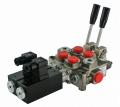 Распределитель гидравлический электрический  12V + LEVER