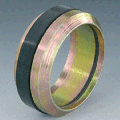The cutting SRDO ring with a ring of round section. Norma DIN 3861, material - steel Protection of a surface - galvanic galvanizing, chromatizing (yellow)