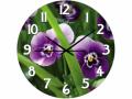 Часы настенные стекло, цветы