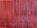 """Шторы нити кисея """"Спиральки"""", цвет красный.Код 006нш"""