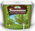 Mix for whitewashing and painting with copper kuporosom snow white