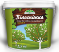 Mix for whitewashing and painting with iron kuporosom snow white