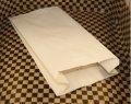 Бумажный пакет для хлеба 200х100х50 крафт белый