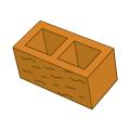 Блок заборный колотый 190 оранжевый