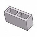 Блок заборный гладкий 140 серый