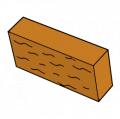 Фасадный камень оранжевый
