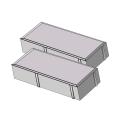 Тротуарная плитка Кирпичик 45 серый