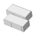 Тротуарная плитка Кирпичик 45 белый
