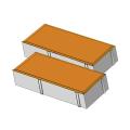 Тротуарная плитка Кирпичик 45 оранжевый