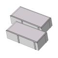Тротуарная плитка Кирпичик 60 серый