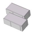 Тротуарная плитка Кирпичик 80 серый