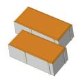 Тротуарная плитка Кирпичик 80 оранжевый