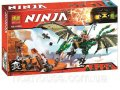 """Конструктор Bela Ninja 10526 (аналог Lego Ninjago 70593) """"Зелёный энерджи дракон Ллойда"""" 603 детали"""