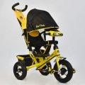 Трехколесный велосипед с фарой Best Trike 6588B-2810 желтый (надувные колеса)