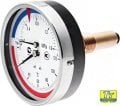 Pressure gauge with thermometer