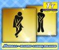 Табличка на дверь туалета под золото глянец темное