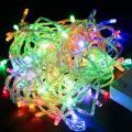 Гирлянда LED разноцветная 100-500 ламп на прозрачном проводе, LEDMulti-T