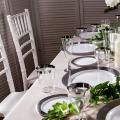 Тарелка стеклопластиковая десертная элитная для дня рождения вечеринки выездного ресторана CFP 6 шт 155 мм