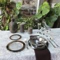 Посуда Capital For People пластиковая термоустойчивая для фуршета. Полная сервировка стола. 102 шт 6 пер