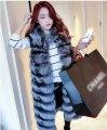 Пушистый женский меховой жилет-высокого качества.