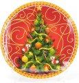 Набор 6 десертная тарелок Bona Елочка стекло d 25 см Разноцветный (BD-809-231_psg)