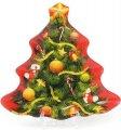 Набор 6 десертных тарелок Bona Новогодняя Елочка 20.5х20.8 см Разноцветный (BD-809-219_psg)
