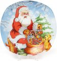 Набор 6 десертных тарелок Bona Санта стекло d 20 см Разноцветный (BD-809-237_psg)