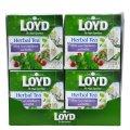 Чай в пакетиках пирамидках Loyd, мята, клюква и травы, 2г*20 шт, 20 уп.