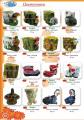 Цветочницы для сада, парка (Сказочные пни, Башмаки, Петухи), высота от 30 до 45 см