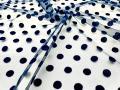 Еврофатин (Флок) Горошки №438 темно-синий