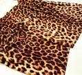 Гладкий стрейч бархат цвет - леопард
