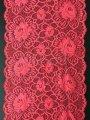 Кружево эластичное розово красное 508-230