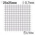 Сетка штукатурная сварная Ø0,7x25x25мм/1x30м