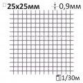 Сетка штукатурная сварная Ø0,9x25x25мм/1x30м