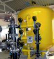 Промышленный напорный вертикальный фильтр  д-м 3 м. и производительностью 30м3/ч.