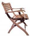 Кресло раскладное деревянное из дуба