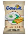 Pšeničné s příchutí zakysanou smetanou a greeny TM «Sukharyok»