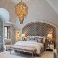 Декоративная панель к кровати в нише