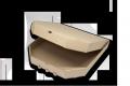 Коробки для пиццы (микрогофрокартон с бурым оборотом) 25х25х35