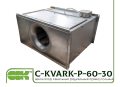 C-KVARK-P-60-30-25-2-220 fan rectangular channel with one-phase motor