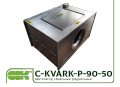 C-KVARK-P-90-50-40-4-220 вентилятор канальный прямоугольный с однофазным электродвигателем