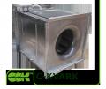 Вентилятор  C-KVARK-35-35-2-220 канальный радиальный квадратный однофазный электродвигатель