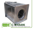 Вентилятор C-KVARK-40-40-2-220 канальный радиальный квадратный однофазный электродвигатель