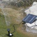 Фонтан на солнечной батарее с выносной панелью для сада искусственного озера
