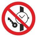 Знак Запрещается иметь при (на) себе металлические предметы d-150 с-к пленка