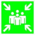 Знак Пункт (место) сбора 150х150 с-к пленка