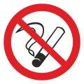 Знак Запрещается курить d-150 мм пластик ПВХ
