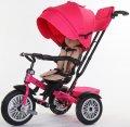 Велосипед трехколесный SpeedRider с надувными колесами (розовый). Вес 12.8 кг (83х50.5х105.5)
